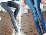 厂家直销春夏美体九分瘦身弹力裤,仿牛仔打底裤,健美裤 满包邮