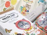 韩国创意猫叔叔盒装贴纸书签套装 贴纸70