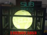 特色户外球形柱头灯酒店门口方形柱子景观灯圆形发光球体柱头灯