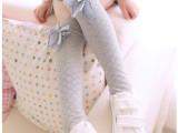【爆款】网格蝴蝶结款中高筒公主袜 纯棉儿童袜批发