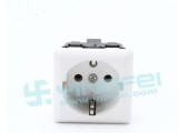 德式插座 德标导轨式插座 AC电源插座 欧式卡式插座