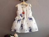 新款夏季女童连衣裙儿童花朵公主连裙子