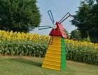 美轮美奂荷兰风车制作厂家 风车长廊荷兰风车出租出售