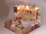 欢乐拼图,BM524清新田园餐厅小屋,情景玩具,DIY小屋,拼图