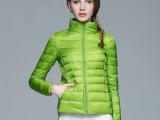 女装轻型羽绒立领外套羽绒服 百搭气质修身