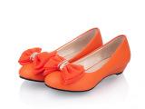 女鞋批发零售 可爱蝴蝶结女鞋 女式鞋女士单鞋低跟低帮鞋A