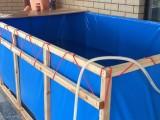 热销帆布水池折叠游泳池支架鱼池防雨布龟池锦鲤池家庭戏水池定做
