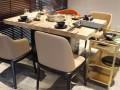 深圳大理石餐桌大理石火锅桌火锅桌椅价格图片款式