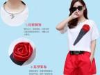 欧美街头2014夏新款休闲套装印花玫瑰花朵上衣+宽松红色阔腿裤