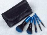 新款美容工具 5支装便携化妆刷带皮袋 彩