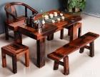天津市老船木茶桌椅子仿古茶台实木沙发茶几餐桌办公桌家具博古架