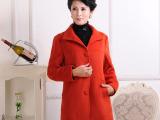俊美服装女式秋冬装中老年风衣40岁妈妈冬装外套中老年外套热卖