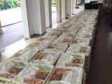 专业承接温江区50份以上大型外卖快餐看房团餐会议盒