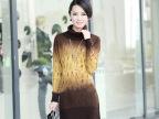 **秋冬女式毛衣时尚长款羊绒衫毛衣裙韩版连衣裙羊毛衫