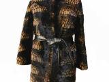 郁维雅尔女款裘皮大衣 豹纹女款 皮草外套 高档水貂毛保暖服装