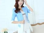 2014秋装新款韩版小西装女外套长袖百搭修身韩版中长款外套潮