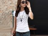 2014夏装新款女装韩版修身百搭t恤衫圆领短袖女T恤短袖上衣闺蜜