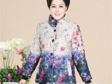 中老年妈妈装棉衣 定位花女装棉袄 跑量款女式棉服外套厂家批发