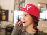 韩国NY彩色字母 平沿街舞嘻哈棒球帽子原宿翻檐帽滑板帽男女潮