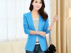 2015韩版新款女装上衣 性感修身小西装 职业女式外套批发 外套女
