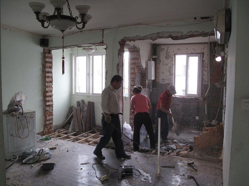 二手房拆除瓷砖 拆除地板拆除家具吊顶拆除