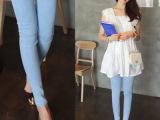 一件代销纯蓝潮女春夏装牛仔裤女士修身韩版小脚裤子女新款休闲