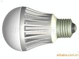 供应陶瓷LED球泡灯外壳配件 玻璃灯罩 E27灯头 厂家直销&m
