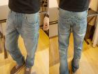 韩版男式牛仔裤 陈冠希潮牌猫捉直筒牛仔裤LES 林弯弯修身牛仔裤