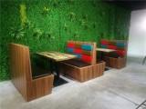 汕头音乐餐吧工业风卡座沙发定做,特色实木餐桌椅厂家批发