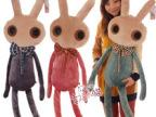 HWD正版创意个性大眼兔 蝴蝶结小兔子毛绒玩具公仔抱枕 生日礼物