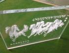 青岛激光雕刻玻璃发光艺术玻璃展览展示
