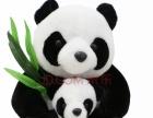 母子熊猫娃娃30厘米