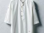 夏季中国风中袖衬衫男士短袖棉麻衬衣仿流行