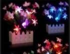 处理一批室内仿真装饰花,晚上带花灯,可以挂墙上,