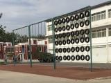 河北销售体育拓展器械 地面拓展项目轮胎墙 轮胎攀爬架