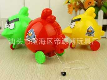 较流行玩具 拉线愤怒小鸟  拉线玩具 愤怒小鸟 拉线小鸟