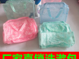 现货批发五色小花促销礼品袋 pvc手提袋 洗漱用品套装包洗澡包
