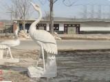 石雕动物仙鹤庭院户外园林落地摆件厂家制作