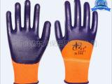 正品星宇N598丁晴乳胶浸渍手套耐油手套劳保手套耐磨挂胶手套批发