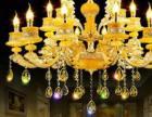 仙桃銅藝之家客廳歐式全銅吊燈led客廳純銅玉石燈飾