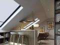 南阳装修案例纯净现代风200平现代风格设计