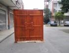 定做实木仿古大门厚板大型庭院门彩绘门神进户门