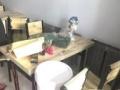 快餐店桌子椅子组合(一张桌子四个椅子)