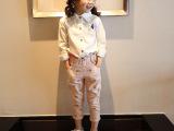 童装 2015春款童上衣 韩版时尚女童长袖上衣 卡通百搭女童衬衫