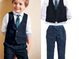 外贸厂家直销220740男童绅士帅气长袖套装学院风四件套童装批4