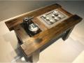 厂家直销 老船木家具 老船木功夫茶桌 板岩泡茶桌椅组合