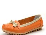 新款真皮平跟妈妈鞋女单鞋甜美牛筋底护士鞋孕妇鞋休闲豆豆鞋