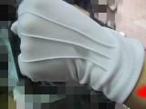 批发不起球不变形单独包装可洗白色阅兵高级礼仪执勤手套乐队手套