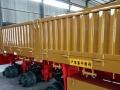 销售13米仓栏花篮半挂车 600标箱栏板车后翻自卸半挂车