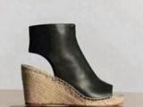 欧洲站2014新款潮女鞋 防水台粗高跟真皮鱼嘴鞋 麻绳坡跟女凉鞋
